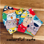 kids mask !colorful cats! 🐈‍⬛💙💛❤️
