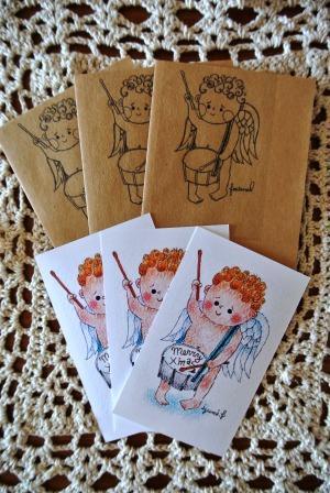 天使のメッセージカード&ポチ袋3点セット ミンネのクリスマス2015
