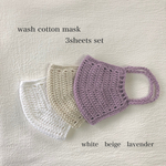 wash cotton mask 3sheets set (Msize)