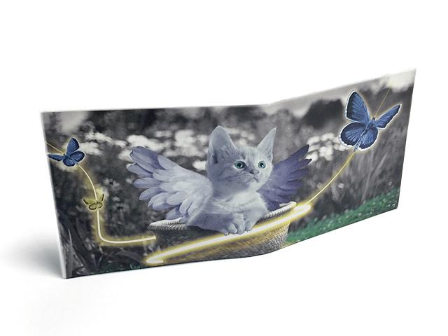 【送料¥90】 ストーンペーパーウォレット【天使な猫】
