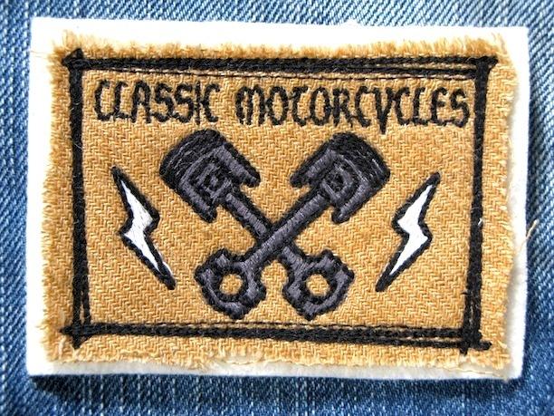 『CLASSIC MOTORCYCLES』FELT×LINEN 刺繍ワッペン