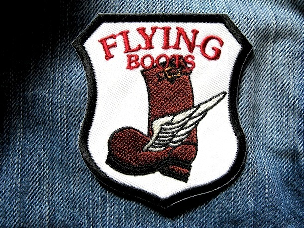 『FLYING BOOTS』刺繍ワッペン