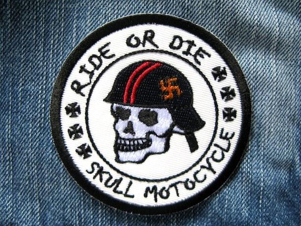 『SKULL MOTOCYCLE』刺繍ワッペン・パッチ