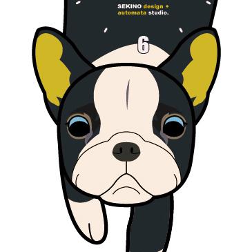 D-IG ボストンテリア-犬の振子時計