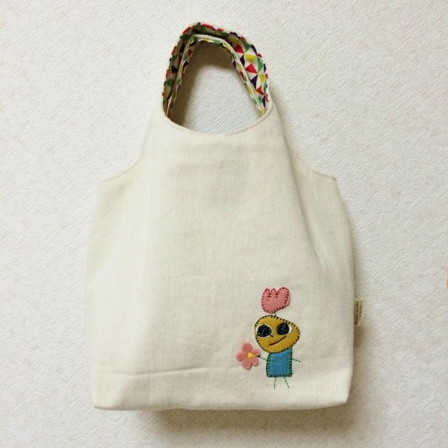 おさんぽバッグ グラニートート(キナリ) 【さんきゅ】