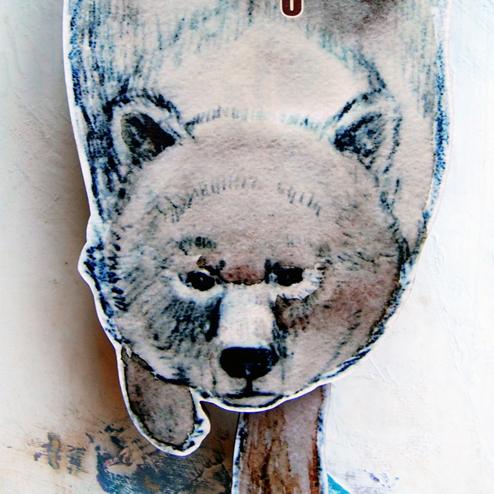 クマの壁掛け振り子時計