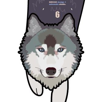 O-02 Wolf-狼の振子時計