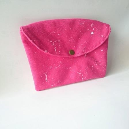 pinkデニム simpleクラッチバッグポーチ