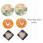 6pcs)Antique design cabochon set