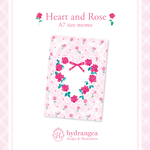 【Heart and Rose】A7サイズメモ