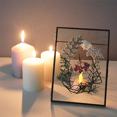 cadre de Noël:クリスマスリースフレーム