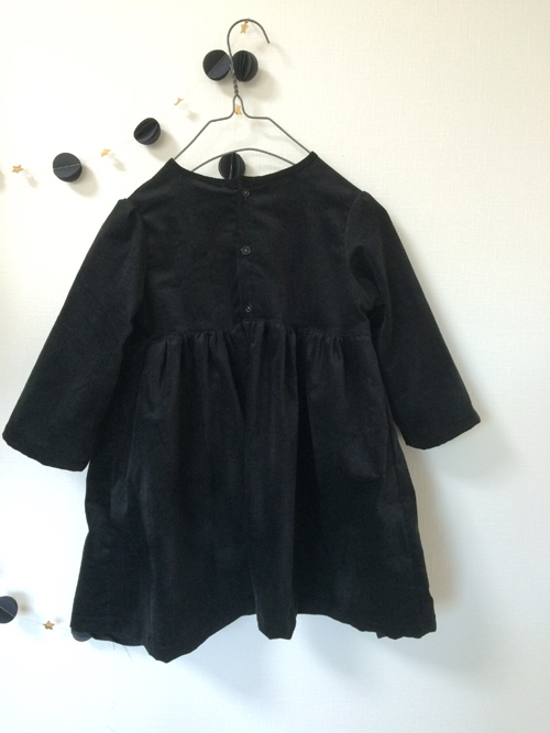 kids front button one-piece   black  100