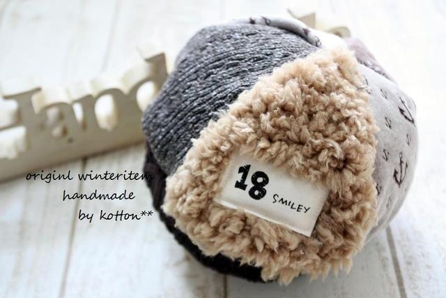 5枚パッチどんぐり帽子*50cm*イカリショコラ