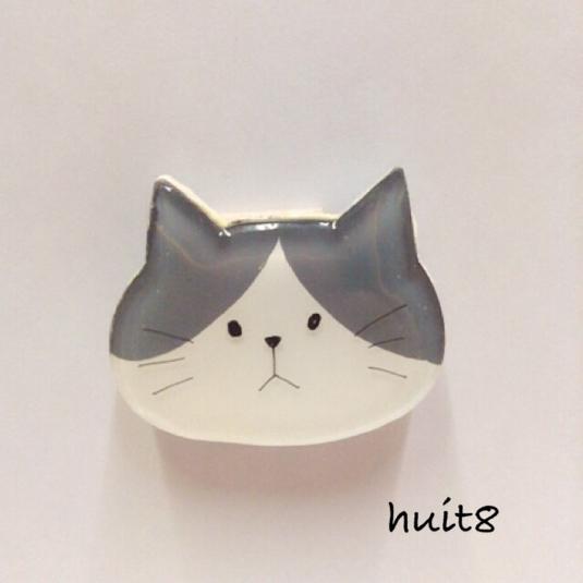 ねこさんブローチ《プラ板》猫・ネコ・neco
