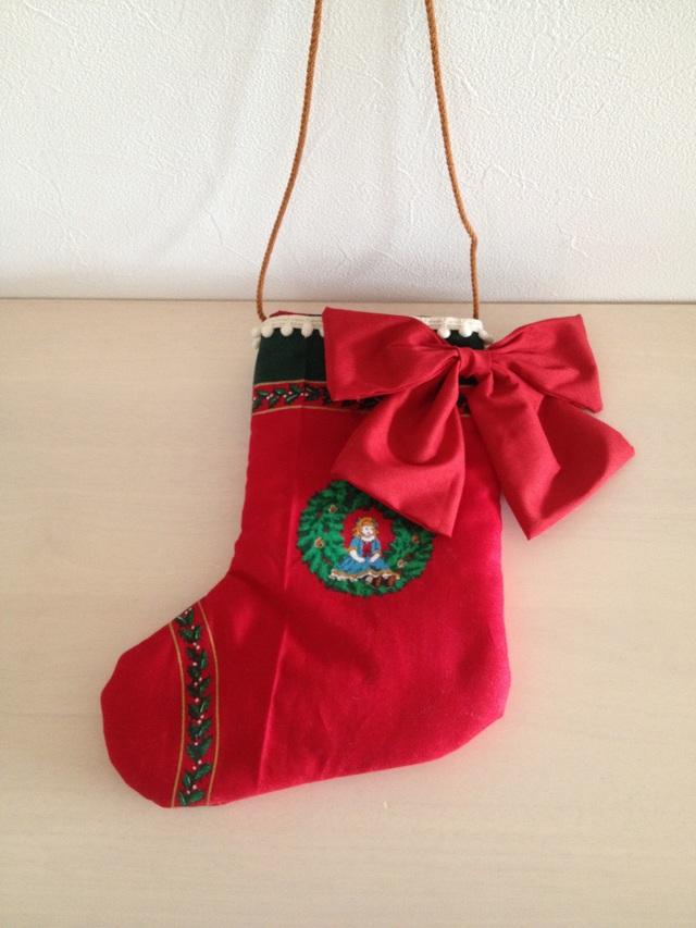 クリスマスオーナメント《お人形とテディベアの小さな靴下》