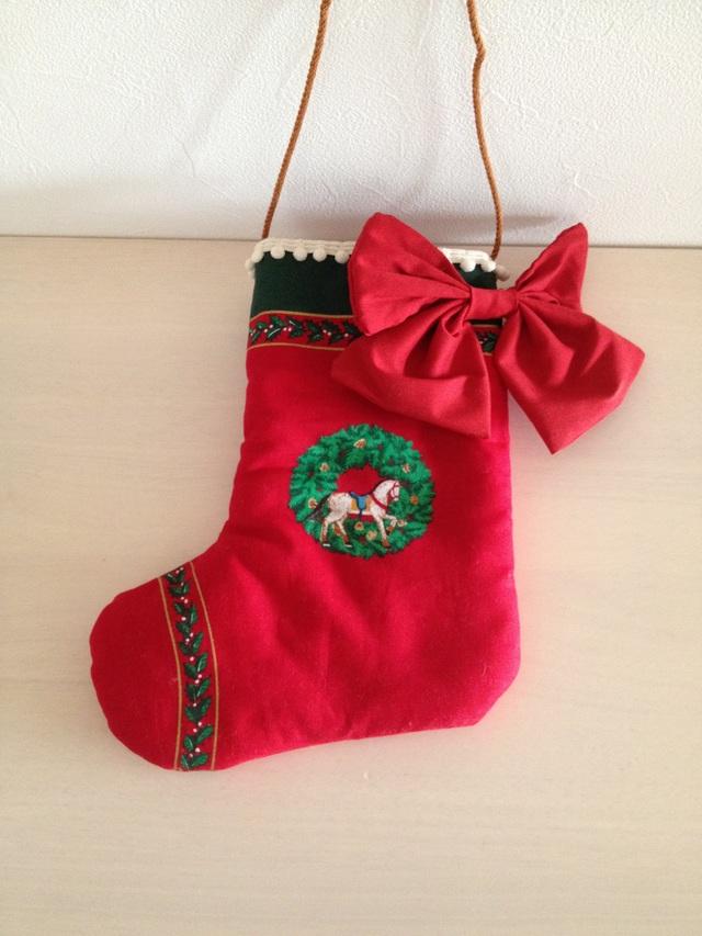 クリスマスオーナメント《木馬と兵隊さんの小さな靴下》