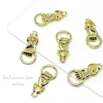 6pcs) Ring hand connector charm