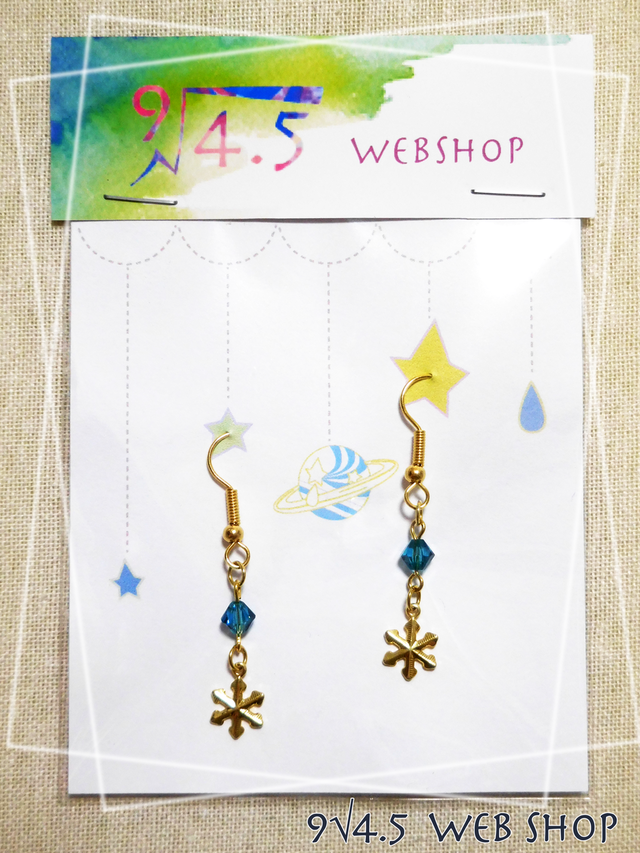 【sale】雪空のピアス