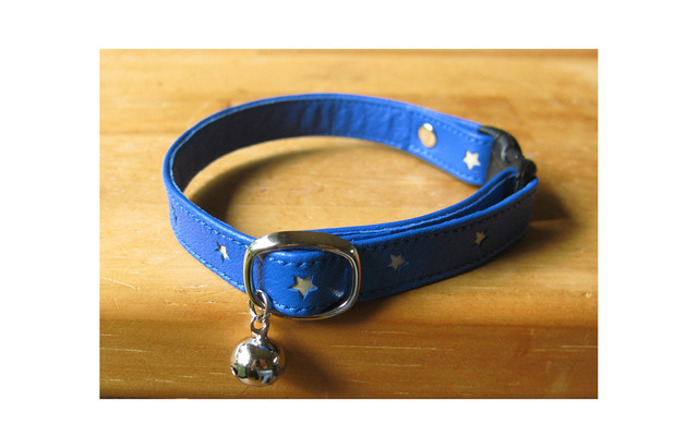 cat collar【Schelm】* blue star