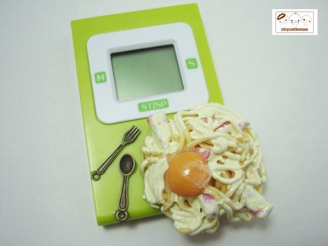 【値下げ】美味しそうなキッチンタイマー 〜カルボナーラ〜