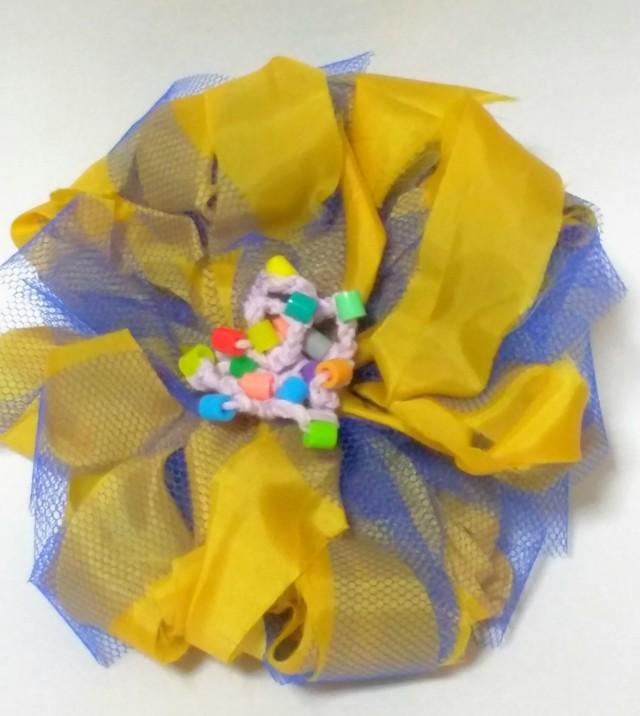 #3 チュール?布 ボリューム ヘアピン 帯飾り コサージュ
