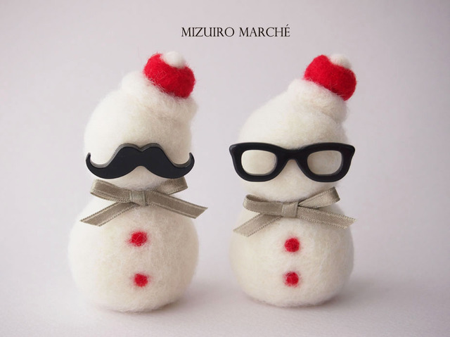 【 冬季限定 】ジェントルマンサンタ or  インテリサンタの雪だるま