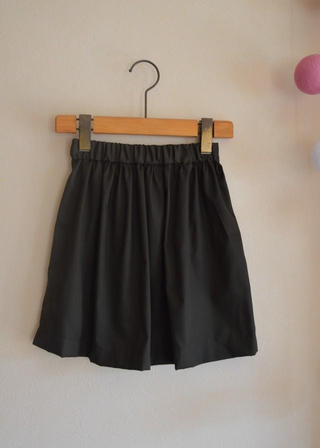 Sale! 120-130 Kids シンプルギャザースカート ミリタリーカラー