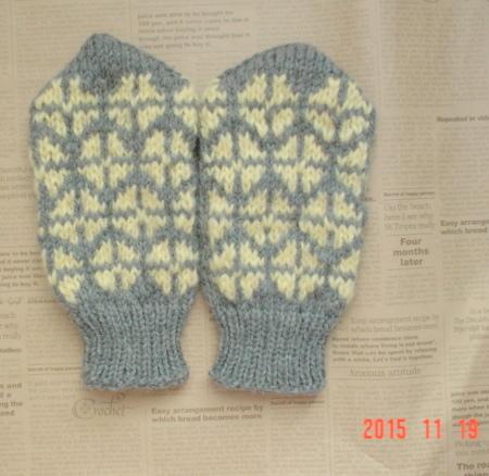 ☆編み込みのざっくり防寒Finger Mittens