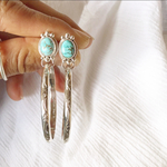 (イヤリング変更不可)《silver925》turquoise✴︎hoop earrings❤︎
