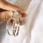 (イヤリング変更不可)《silver925》herkimer diamond✴︎hoop earrings❤︎