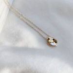 petit bean necklace(gold)