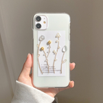 little flower gold iPhoneケース iPhone11 iPhoneXR iPhoneXs iPhone8 iPhone11pro iPhone12 iPhone12pro