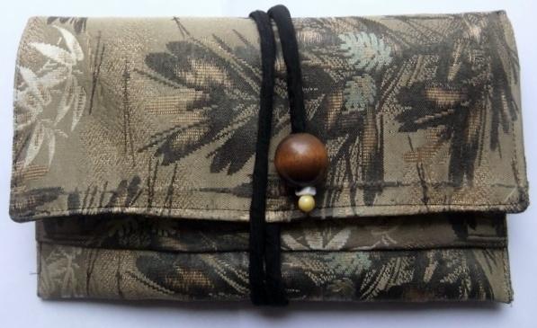 着物リメイク 帯で作った和風財布 838