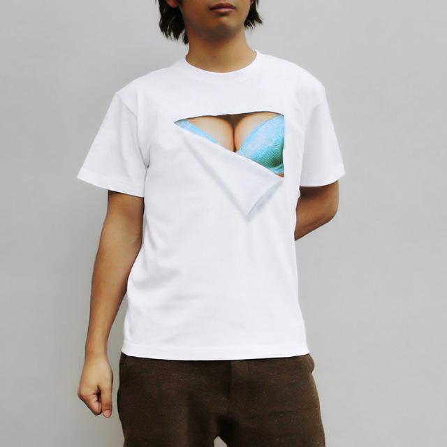【在庫限り】妄想マッピング -青いブラTシャツ-(半袖)