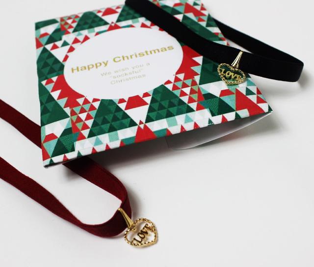 【チョーカー】黒と赤 ハート柄ゴールド クリスマス限定ver