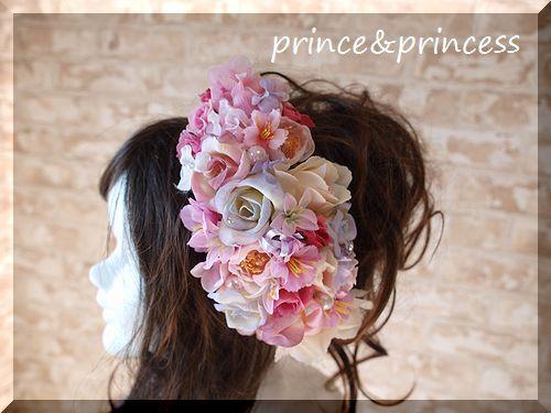 お花いっぱいヘッドドレス