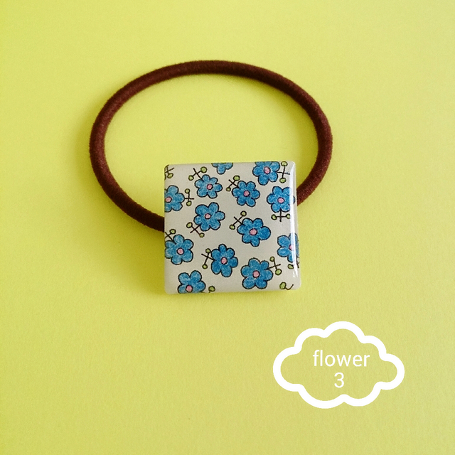 『flower 3』ヘアゴム
