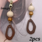 【chmm4102woos】【2個】antique style wood charm
