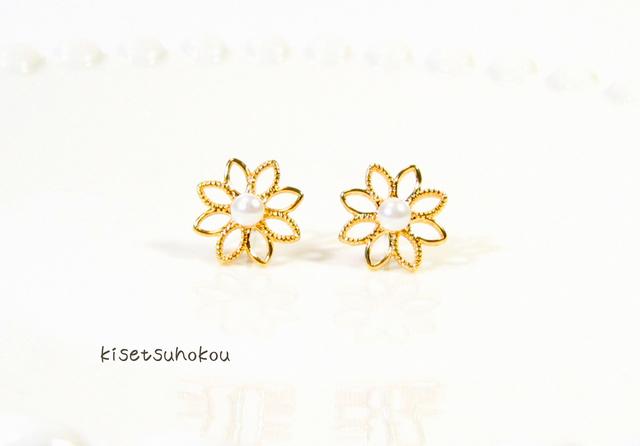 flower * flower  ピアス