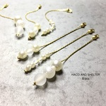 6pcs★pearl+frost swing charm(ロングチェーンチャーム)