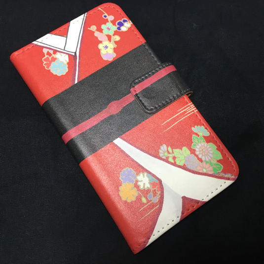 姫様iPhone6/6s手帳型ケース(赤)【送料込】