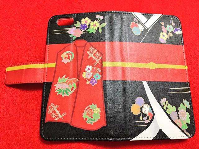姫様iPhone6/6s手帳型ケース(黒)【送料込】