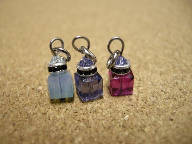 *香水瓶のチャーム ボディピアス 紫ver.*