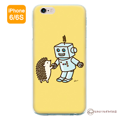 iPhone6/6Sケース 「はりねずみ&ロボット」(ポストカード付)