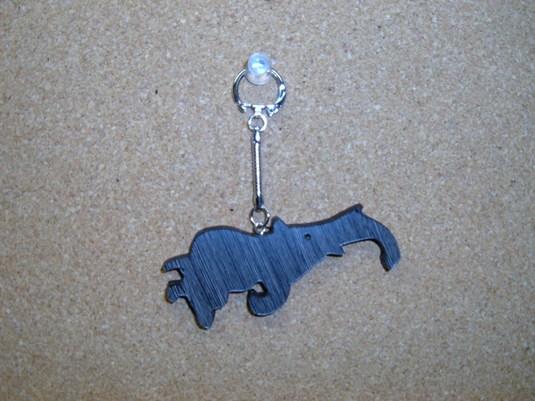 木製 「ゾウさんのキーホルダー」