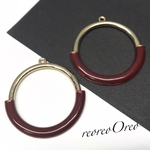 ring  charm wine red