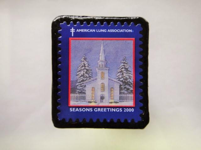 アメリカ クリスマス切手ブローチ397