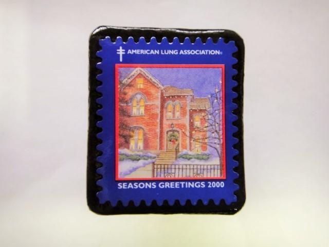 アメリカ クリスマス切手ブローチ400
