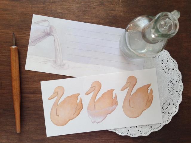 白鳥サブレとミルク湖の一筆箋