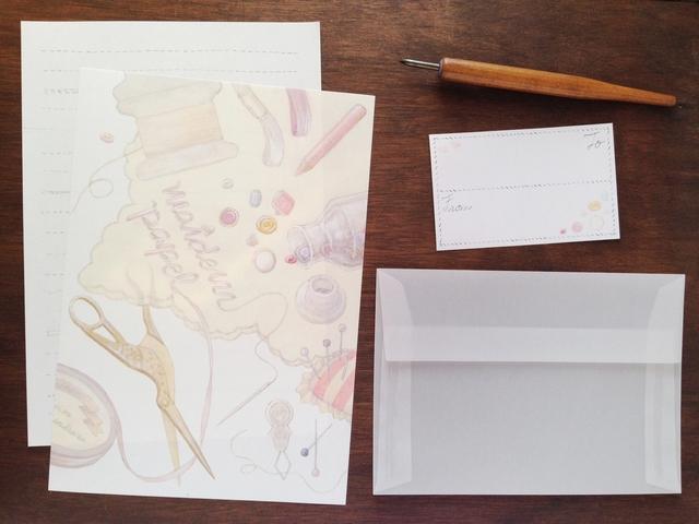 刺繍のレターセット